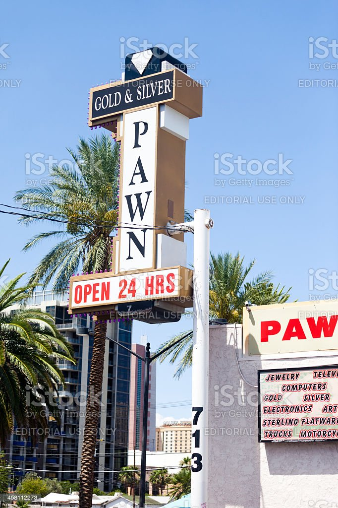 Gold and Silver Pawn Shop royalty-free stock photo