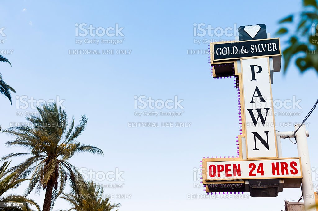 Gold and Silver Pawn Shop stock photo
