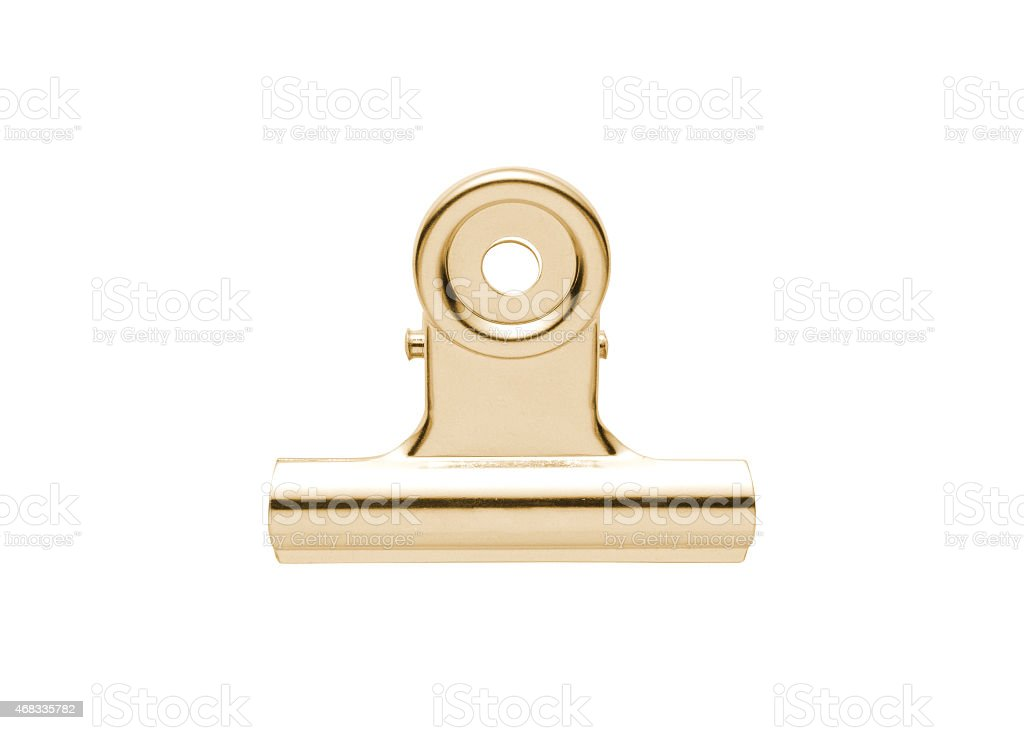 Gold and silver plated tie-clip stock photo
