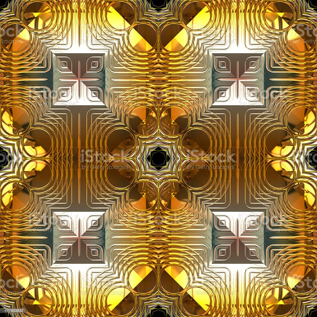 Gold and Silver Reflection Seamless Pattern stock photo