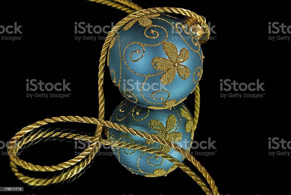 gold and teal ornament royalty-free stock photo