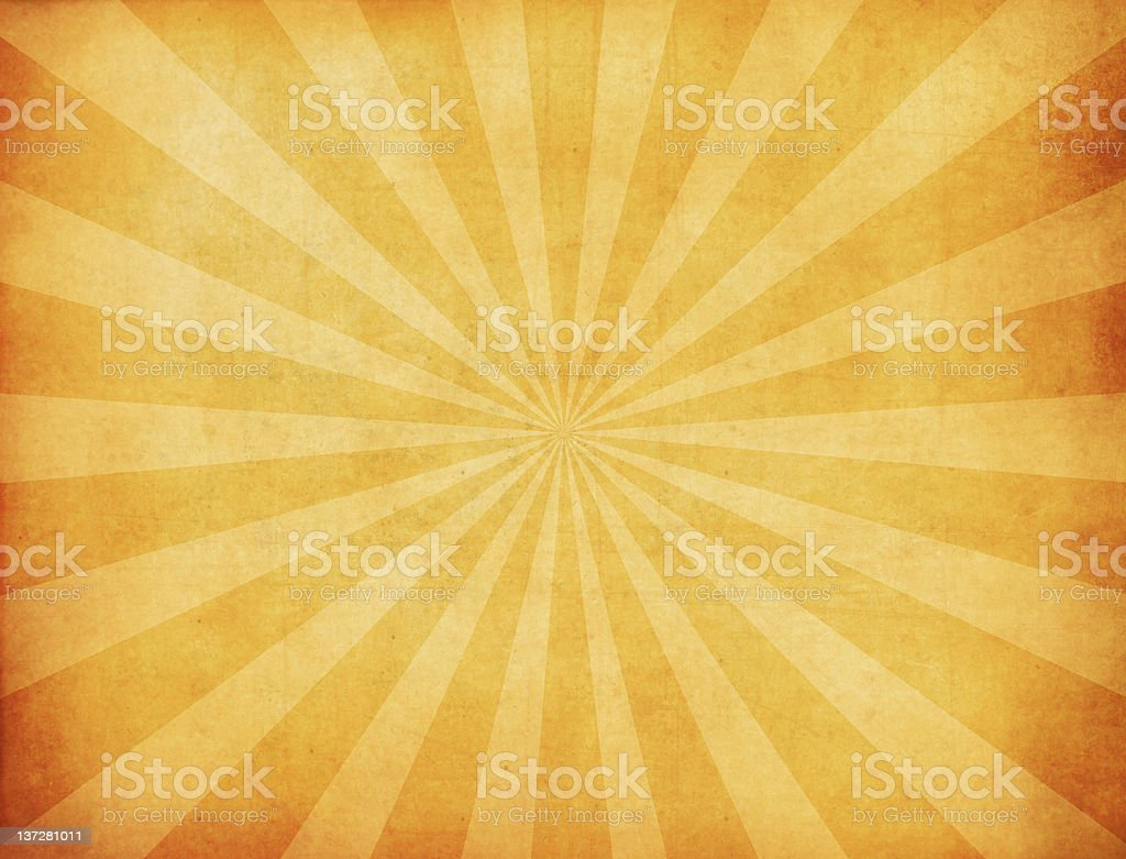 Gold and yellow burst background stock photo