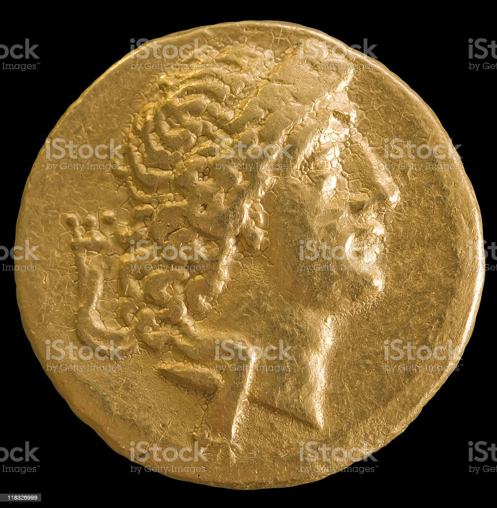 Gold antique money. royalty-free stock photo