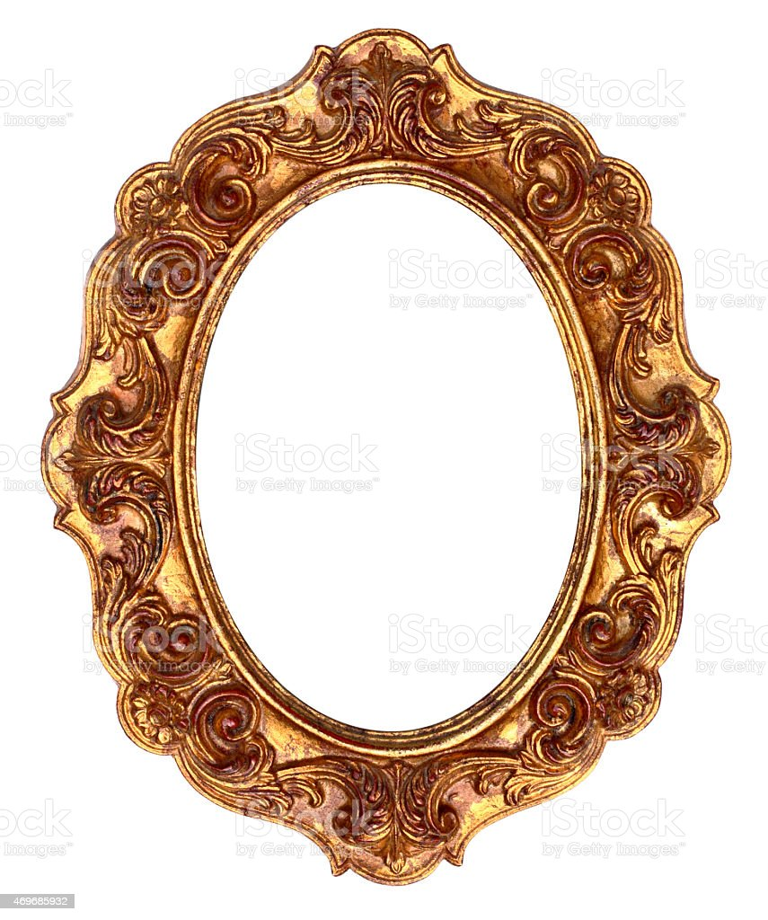 Gold Antique Ornate Picture Frame stock photo