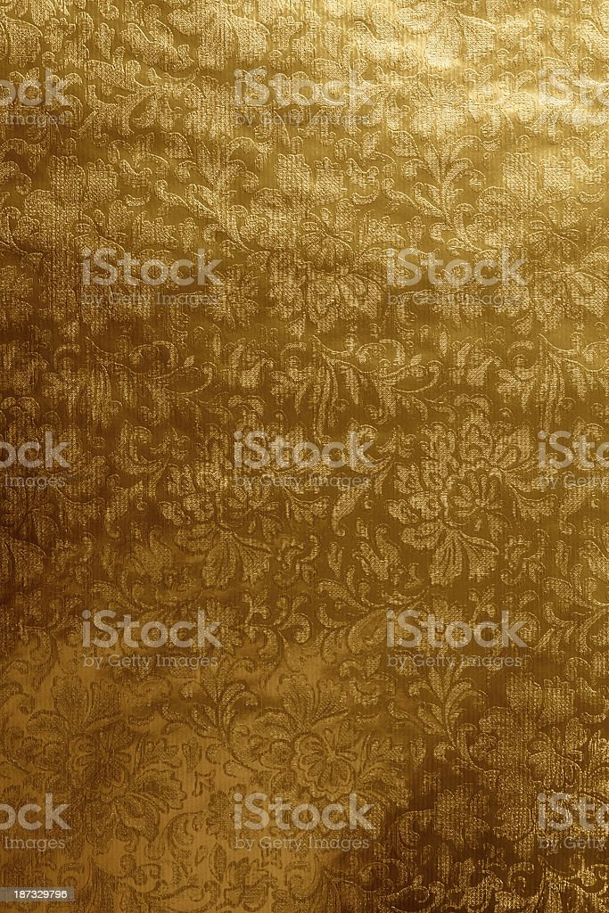 Gold Antique Wallpaper – Victorian Style royalty-free stock photo