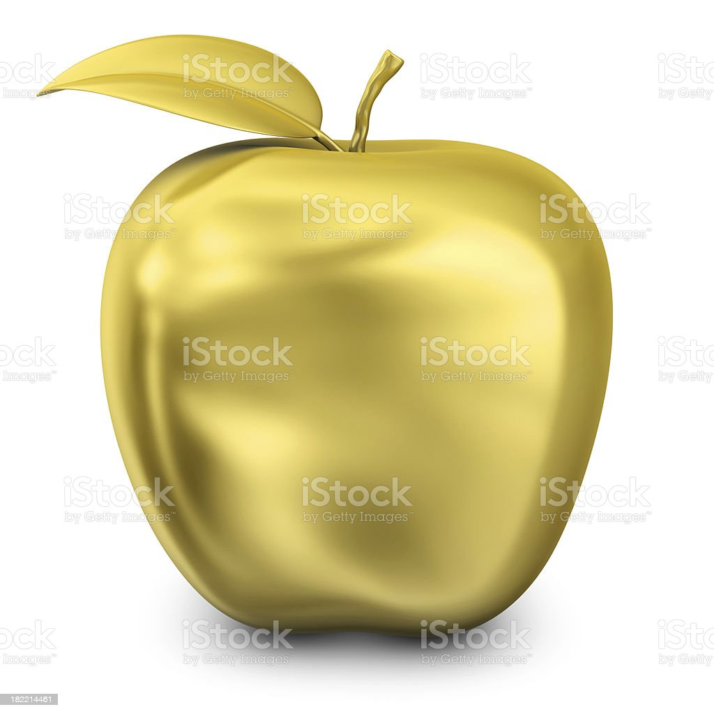 gold apple royalty-free stock photo