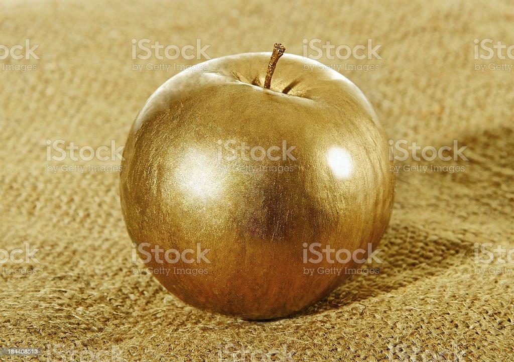 Gold apple. royalty-free stock photo