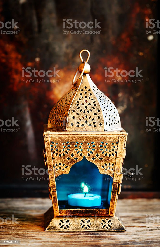 Gold Arabic Lantern stock photo