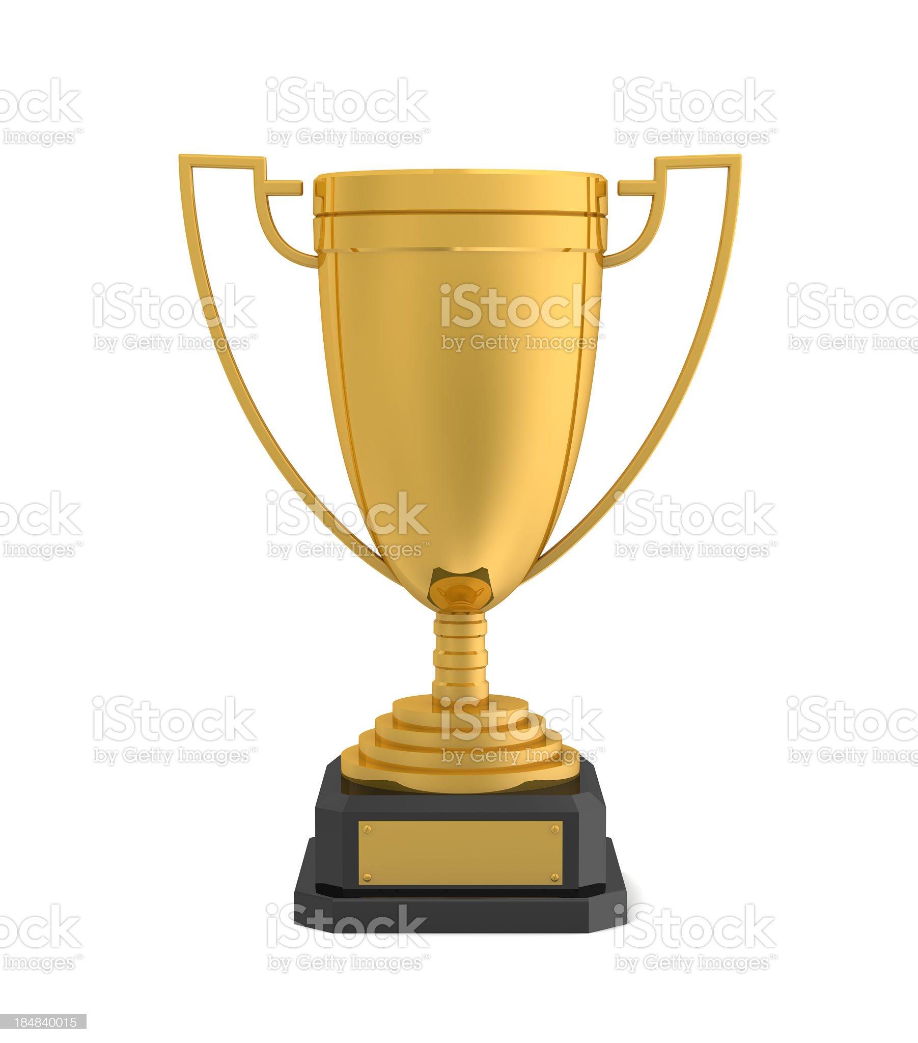 Gold Award Cup royalty-free stock photo