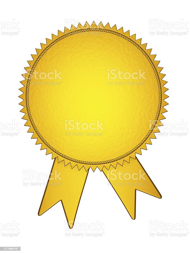 Gold Award Medal royalty-free stock photo