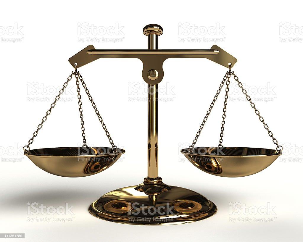 Gold Balance. royalty-free stock photo