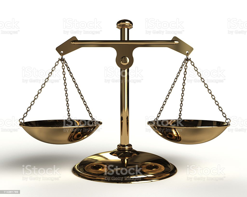 Gold Balance. stock photo