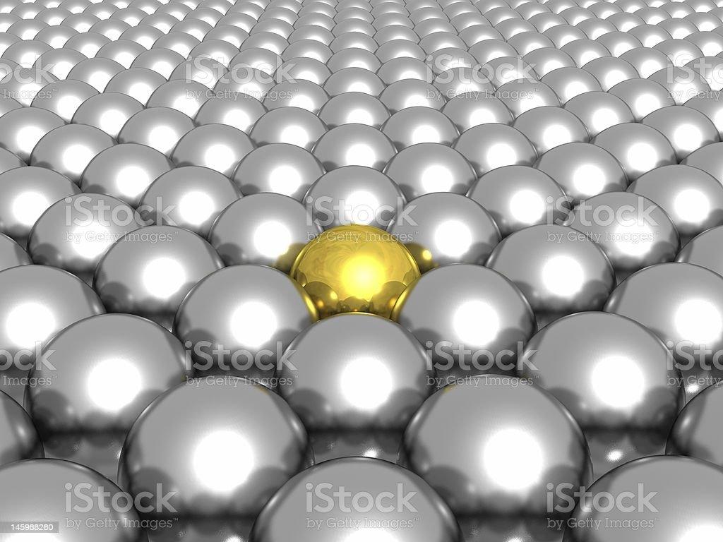 Gold Ball royalty-free stock photo