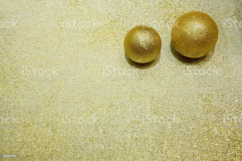 Gold Balls royalty-free stock photo