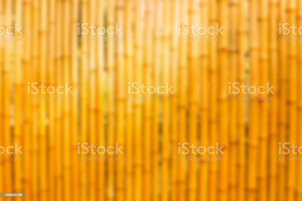 Gold bamboo wall gaussian blur stock photo