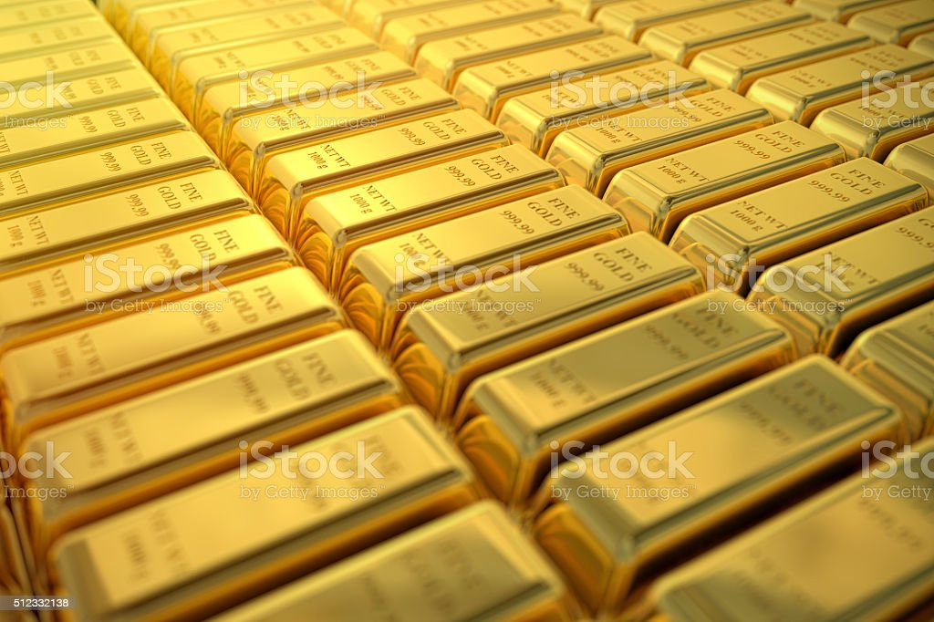 Gold Bar Background stock photo