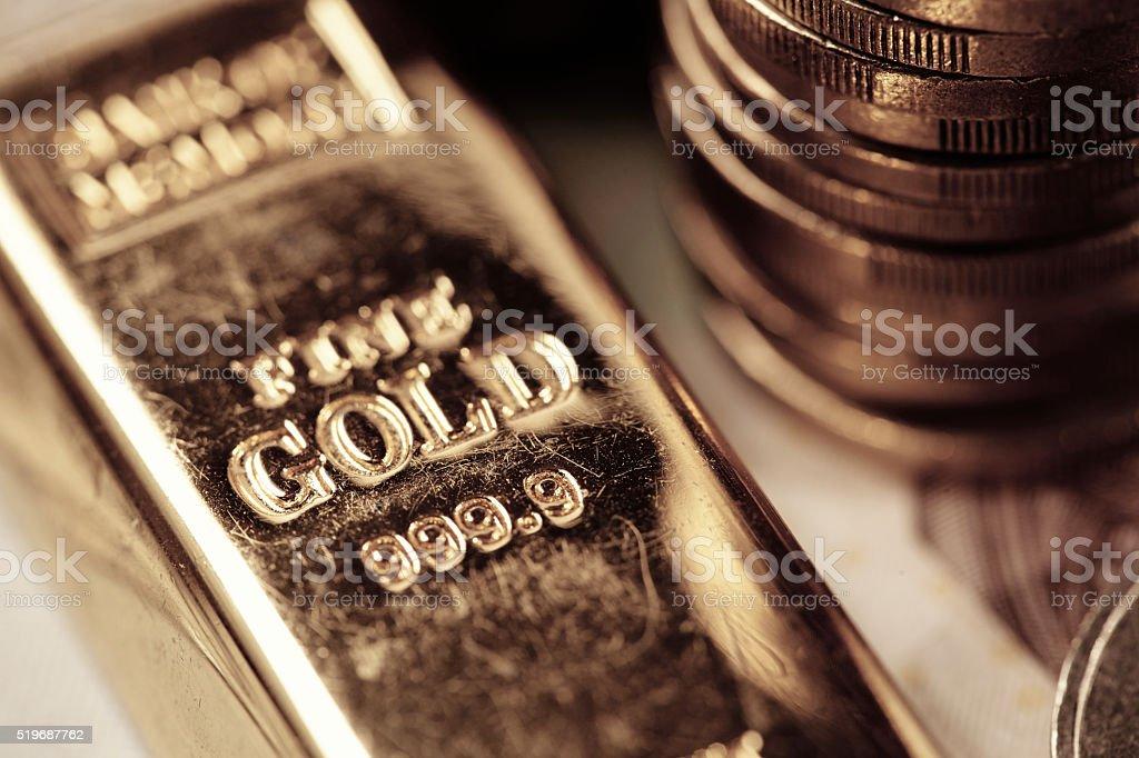 gold bar concept stock photo