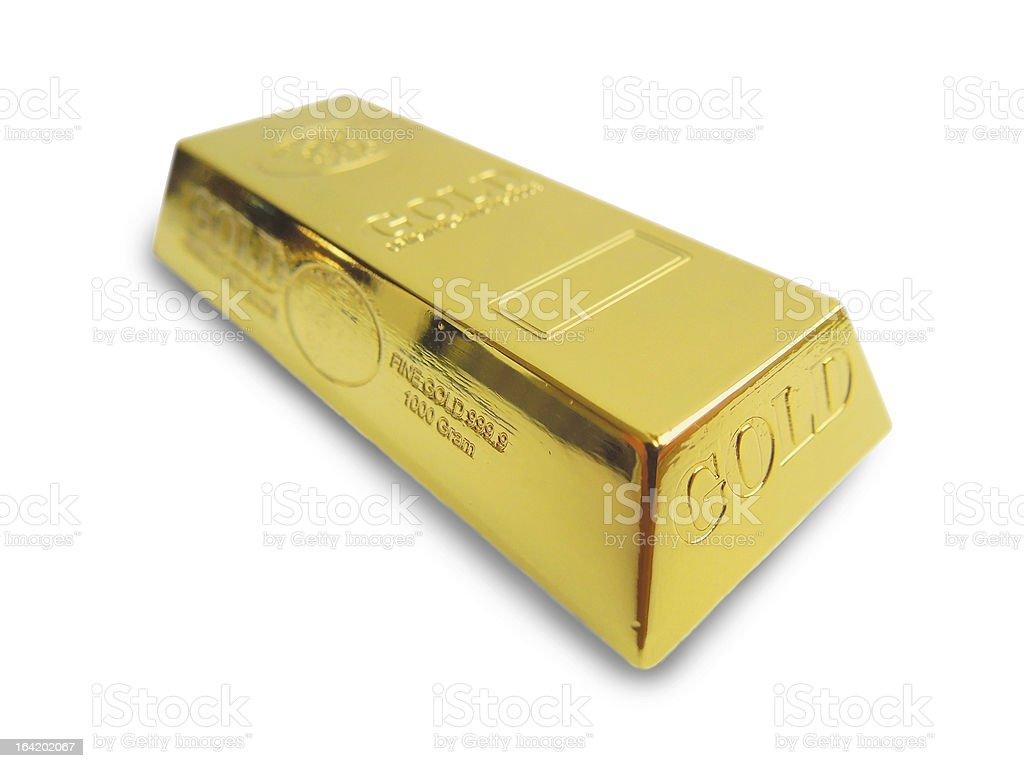 Gold bar isolated on white background. royalty-free stock photo
