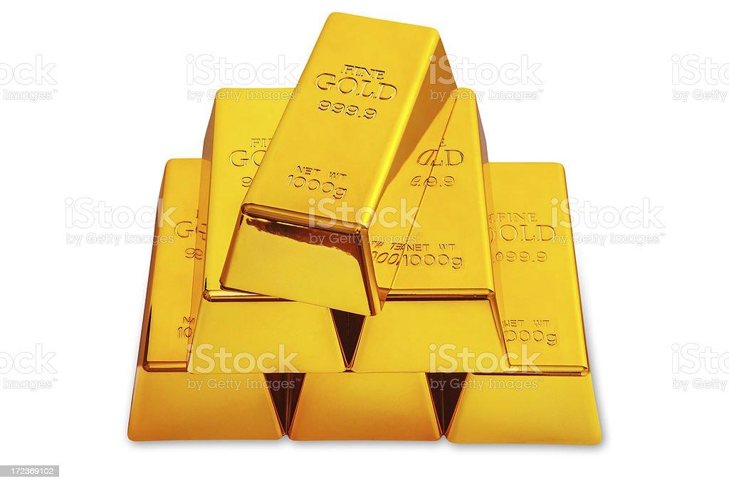 Gold bar royalty-free stock photo