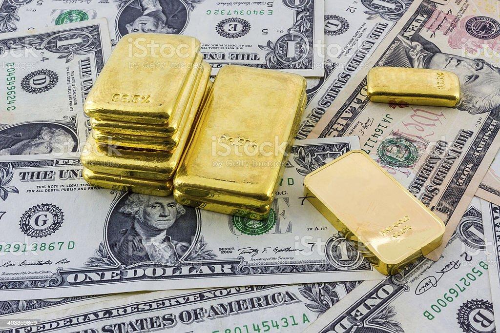 Gold bar. stock photo