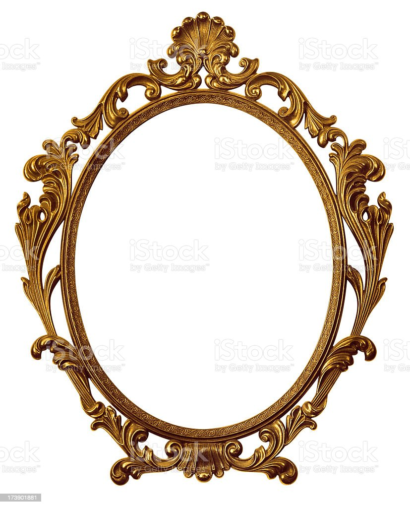 Gold baroque picture frame royalty-free stock photo