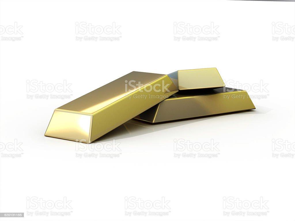 Gold Bars 3D Concept stock photo