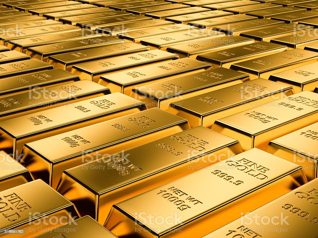 Gold bars background series stock photo
