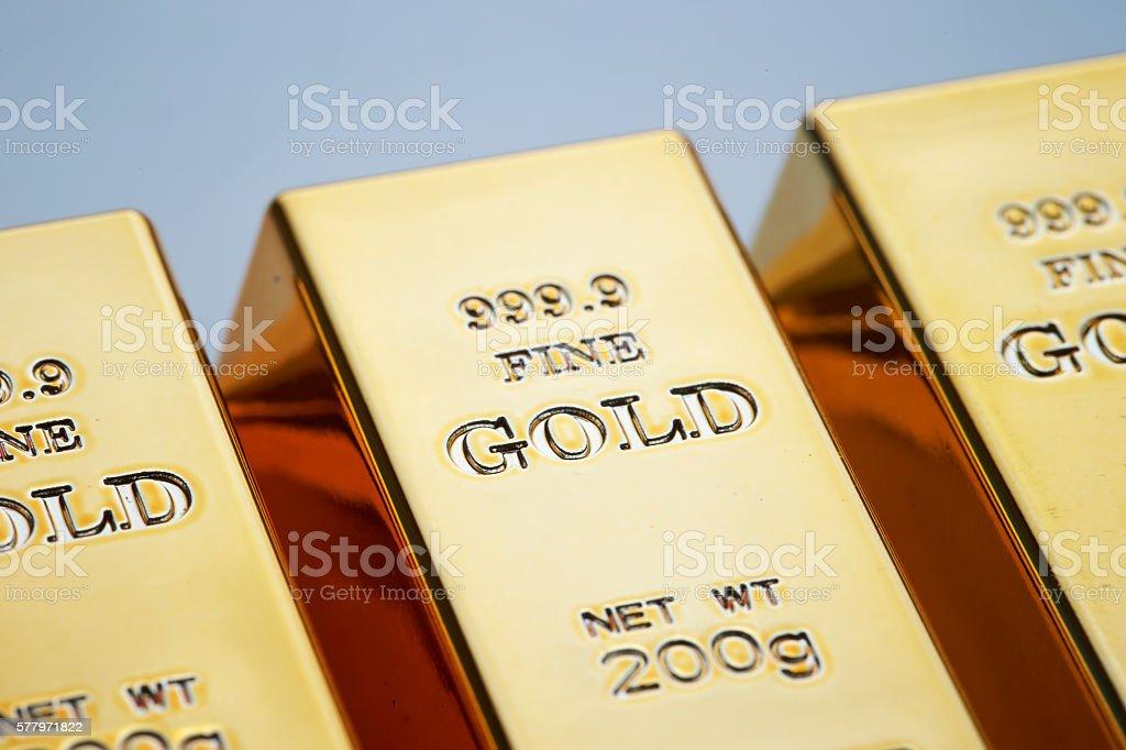 Gold bars stock photo