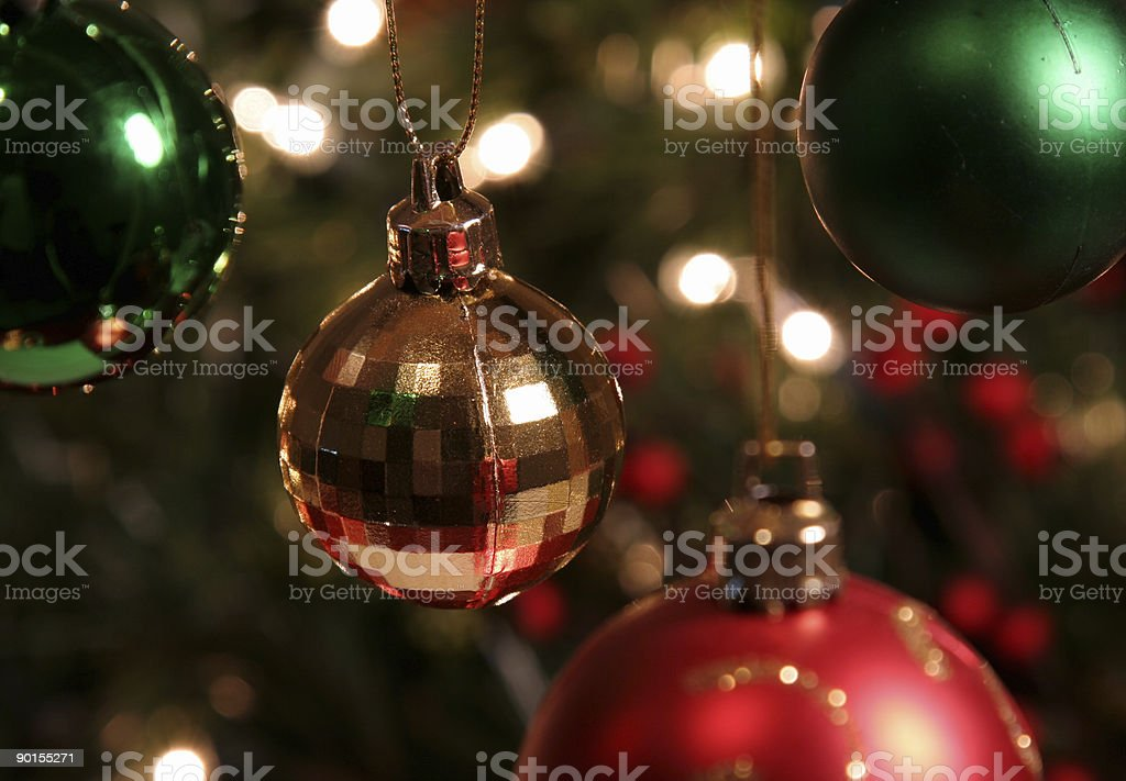 Gold Bauble royalty-free stock photo