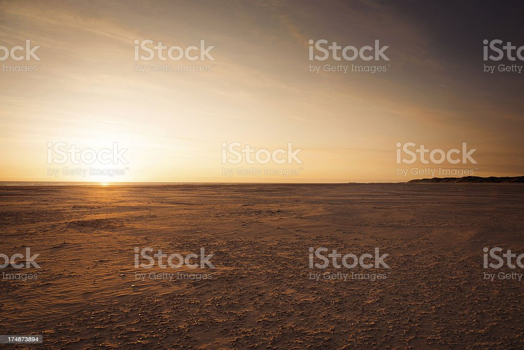 Gold beach royalty-free stock photo