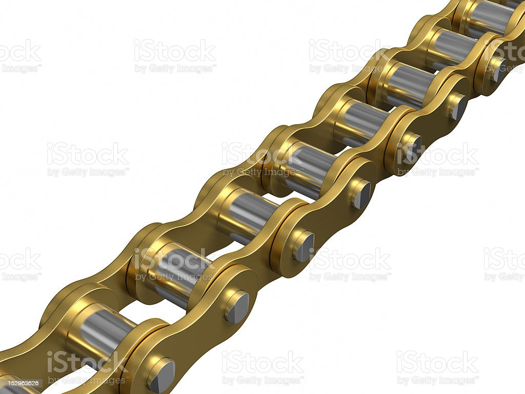 Gold - Bicycle chain royalty-free stock photo
