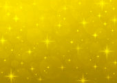 Gold blur light with shiny starry, Christmas background