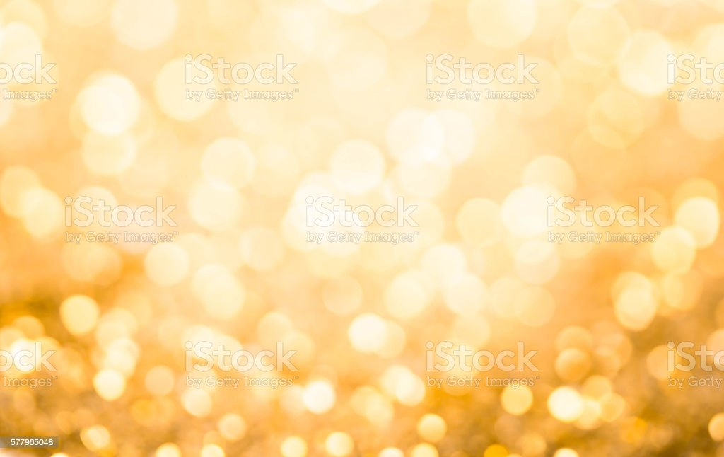 Gold bokeh , abstract background stock photo