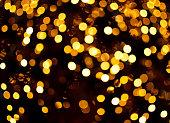 Gold bokeh light