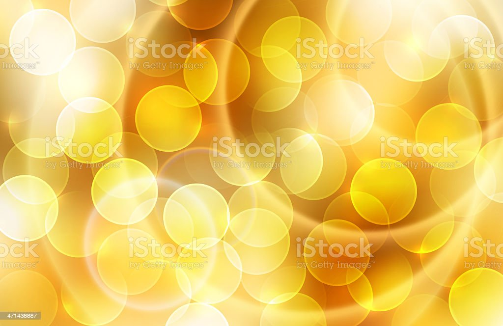 Gold bokeh. royalty-free stock photo