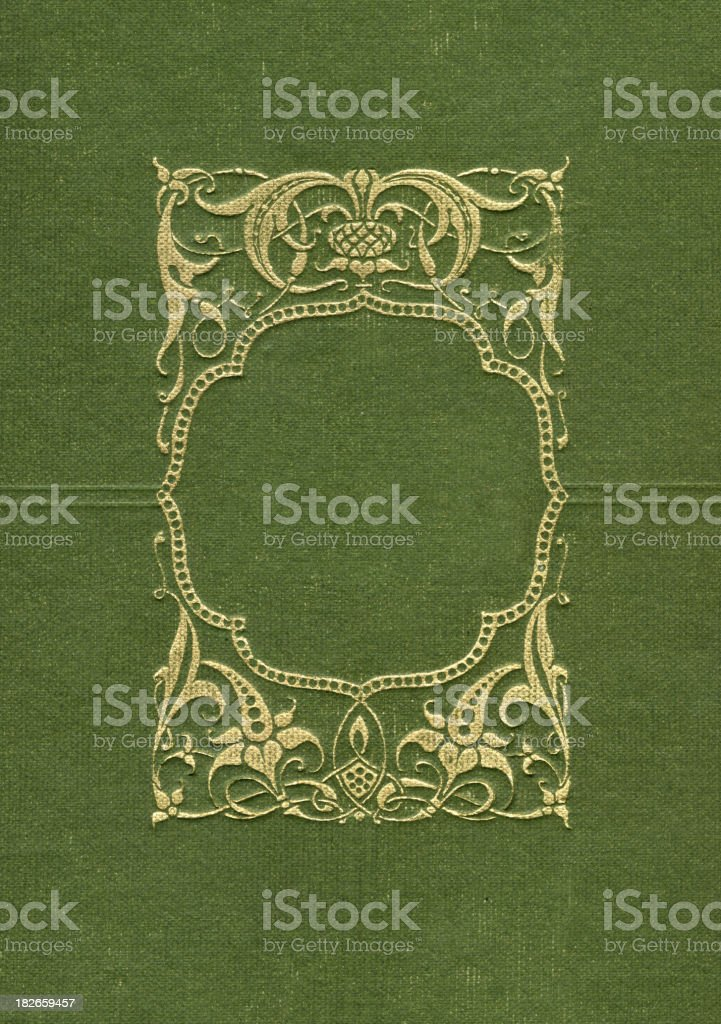 Gold Border on Green stock photo
