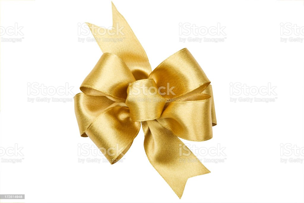 Gold Bow Series (CLIPPING PATH XL) royalty-free stock photo