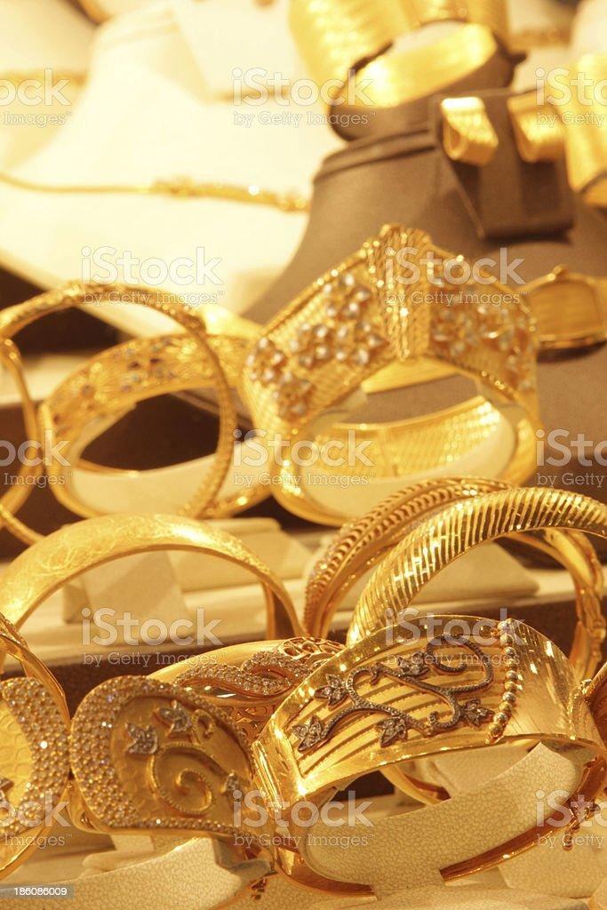 Gold Bracelets royalty-free stock photo
