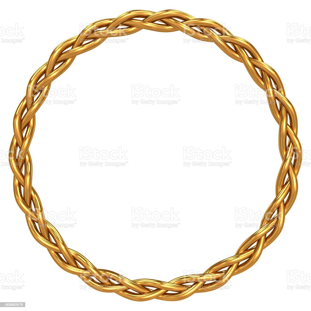 Gold braided circle stock photo