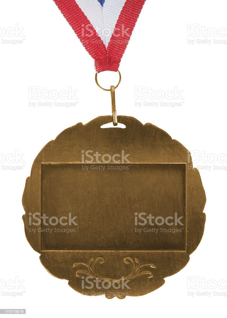 Gold brushed medal royalty-free stock photo