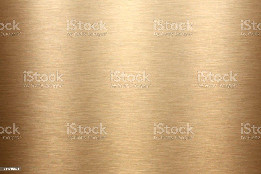 Gold brushed metal texture stock photo