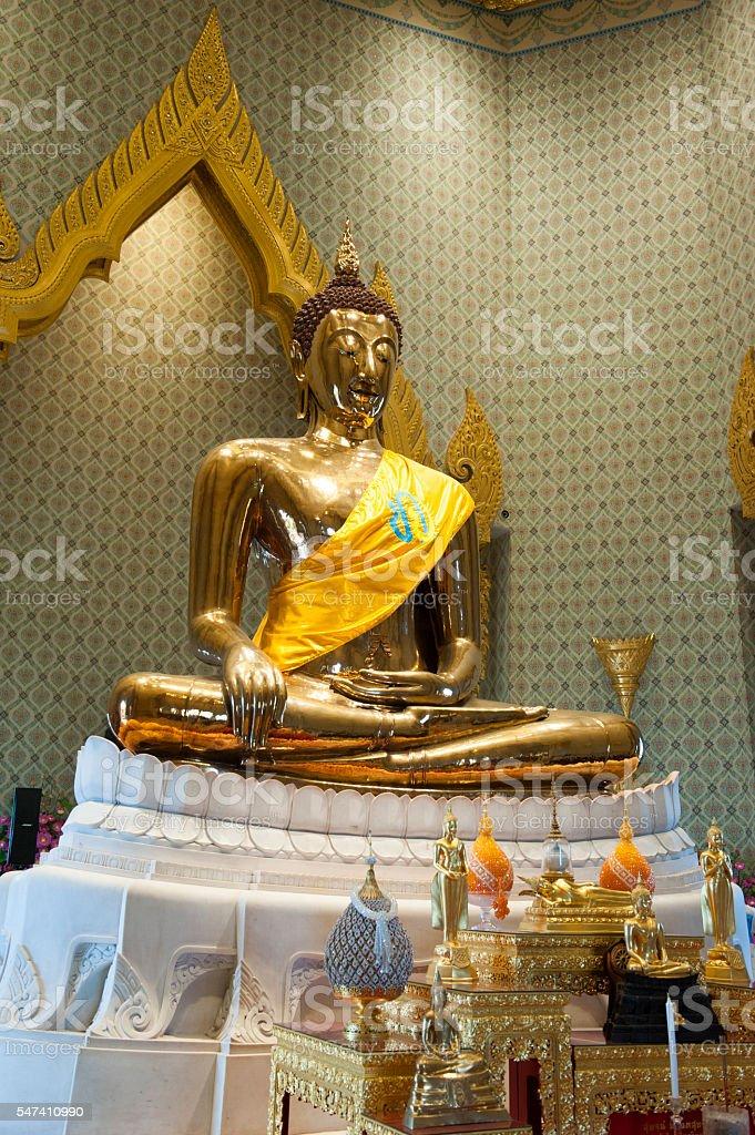 Gold Buddha at Wat Traimit, Bangkok, Thailand stock photo