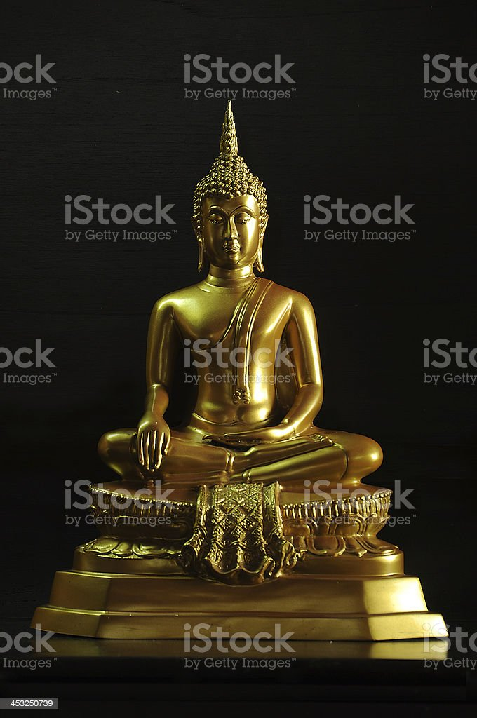 Gold Buddha ,Ayutthaya,Thailand stock photo