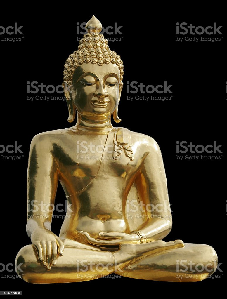 Gold Buddha royalty-free stock photo