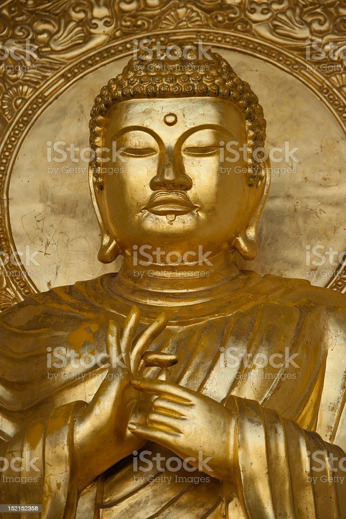Gold Budha stock photo