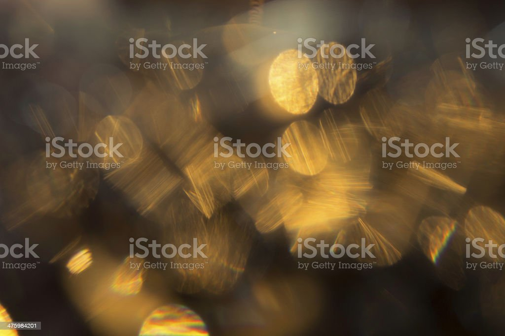 Gold bulbs royalty-free stock photo