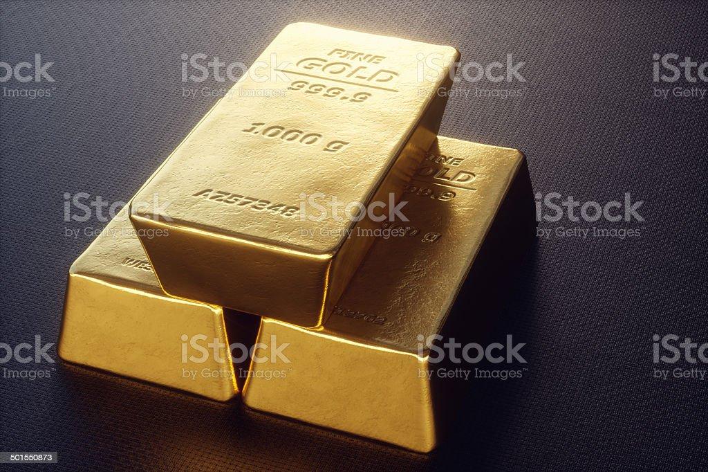 Gold Bullion A2 stock photo