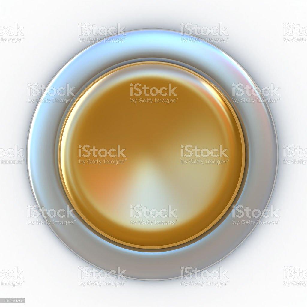 Gold Button stock photo
