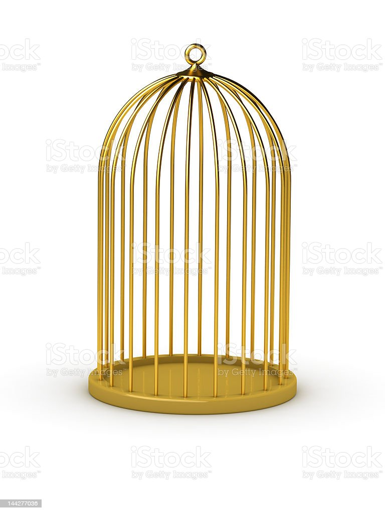 gold cage royalty-free stock photo