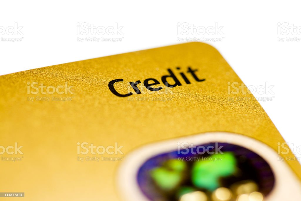 Gold card royalty-free stock photo